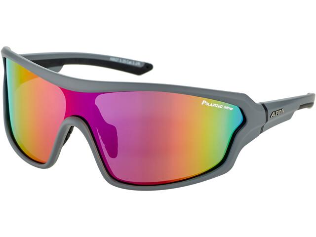 Alpina Lyron Shield P Glasses grey matt-black/purple mirror